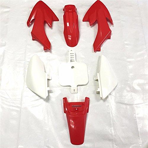 XKMT Group Motorctcly Red Plastic Fender Kit Body Work Fairing Kit For Honda CRF XR XR50 CRF50 Clone 125CC Pit Dirt Bike