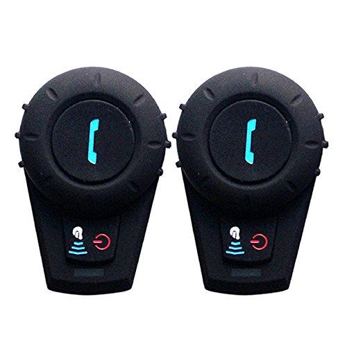 Helmet Cmmunication SystemsFreedConn FDCVB Helmet Bluetooth Headset Intercom for Motorbike Skiing Range-800M2-3Riders PairingBlack 2 Units with Hard Cable