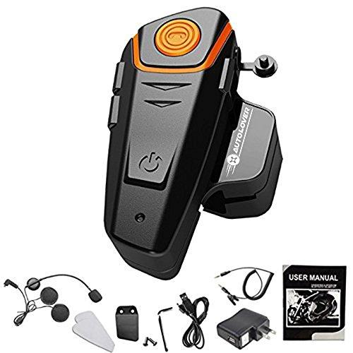 AUTOLOVER 1000M Motorbike Bluetooth Headset Motorcycle Helmet Intercom Interphone and Audio For MP3 playerGPSWalkie-Talkie Hands Free FM radio Single