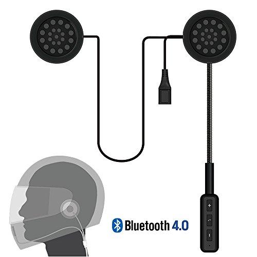 LeaningTech Motorcycle Helmet Wireless Headset Bluetooth Intercom Headset Helmet Headphones Speakers Hands free Music Call Control
