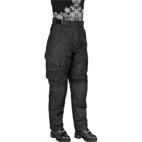 River Road Taos Women's Textile Touring Motorcycle Pants - Black / Size 8