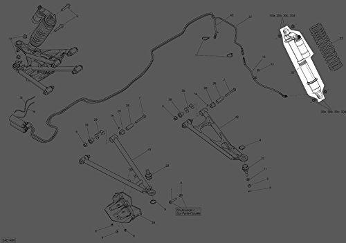 Can-Am 2014 14 Maverick 1000 XMR Front Shock Strut Assembly 706201717 New OEM