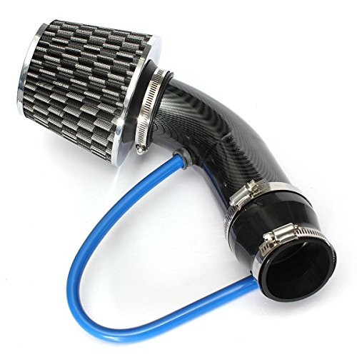 Universal Car Automobile Racing Cold Air Intake Filter Aluminum Induction Pipe Power Flow Kit Carbon Black