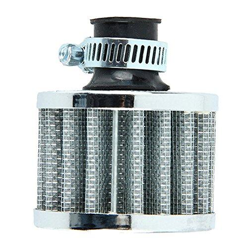 WinnerEco Details about 12mm Sliver Car Motor Cold Air Intake Filter Turbo Vent Cran