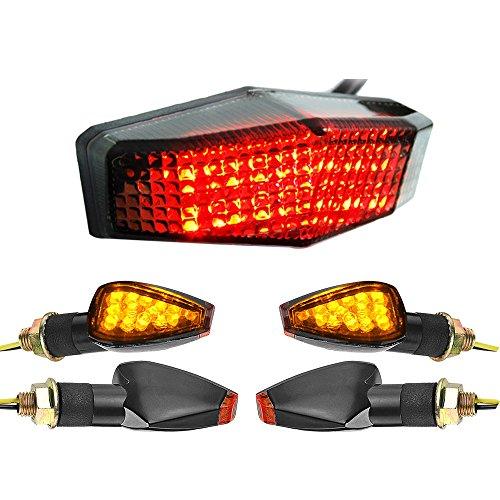 Smoke LED Brake Stop Tail Light  4pcs Arrow Amber Mini Stalk Side Marker Turn Signal Light
