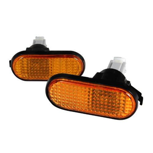 Spec-D Tuning LSM-CV92AMFT Honda Civic Ex Dx Lx Vx Amber Flat Side Marker Turn Signal Lights