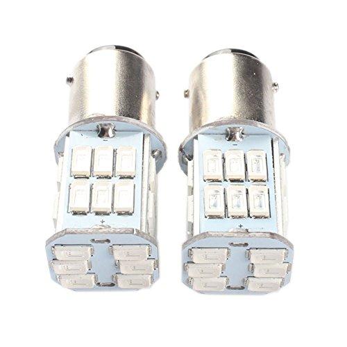 ANFTOP 2pcs 1157 Ba15d Car Led Light bulbs 6V Volt 30SMD 5630 LED Super Bright Red for Back Up Light Reverse Lights Brake Lights Turn Signal Bulbs