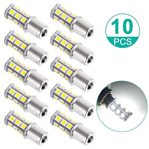 Sunnest Super Bright 1156 LED Light bulb 12V 7506 1003 1141 18-SMD LED Bulbs For Car Rear Turn Signal lights Interior Brake Light Lamp Backup Lamps RV Camper White 10-pack