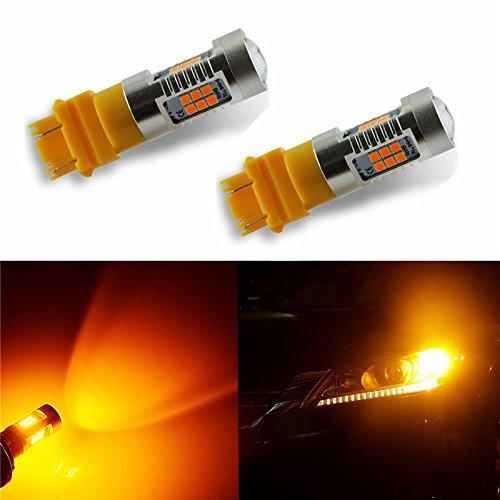 Super Bright Turn Signal Bulb 3156 3157 Auto Car LED Bulbs Amber Yellow 3157