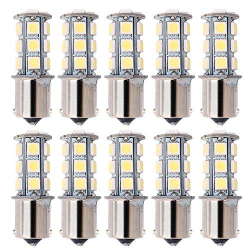 kuman 10 X LED Car Replacement Bulbs 1156 BA15S 1141 LED 18 SMD 5050 Interior RV Camper 36W SUV MPV Car Turn Tail Signal Bulbs Brake Light Lamp Backup Lamps KL01