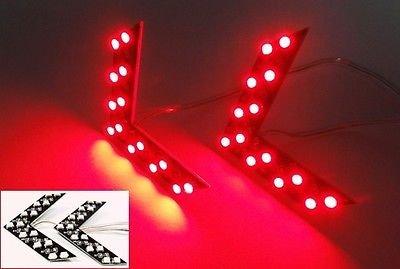 LEDIN 2 Red SMD LED Arrow Panel Side Mirror Turn Signal Light Indicator lamp SUV Truck