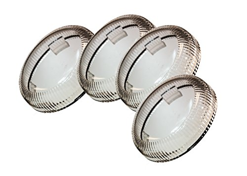 Set 4 OZ-USA Clear Turn Signal Lens Deuce-Style Snap On Replacement Lens for Harley 2002-2013 Street Glide FLHX
