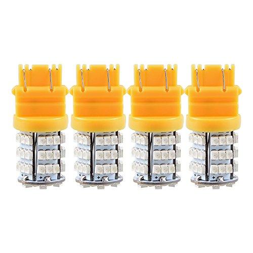 4X 3156 3157 Amber Yellow 3528-SMD LED Turn Signal Light Bulbs Blinker Corner Lamp