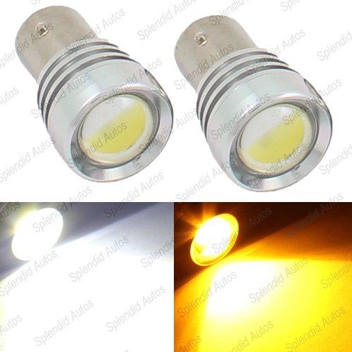 1157 Dual Color High Power LED Switchback Turn Signal Lights 2357 Plus 2 Resistors