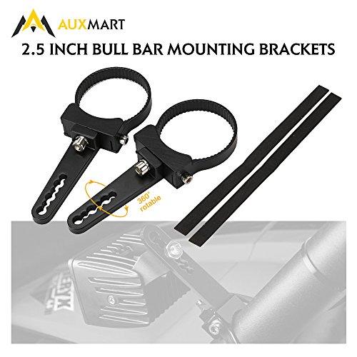 AUXMART 25 Bullbar Nudge Bar Clamps Adjustable Mounting Brackets for LED Hid Light Bar