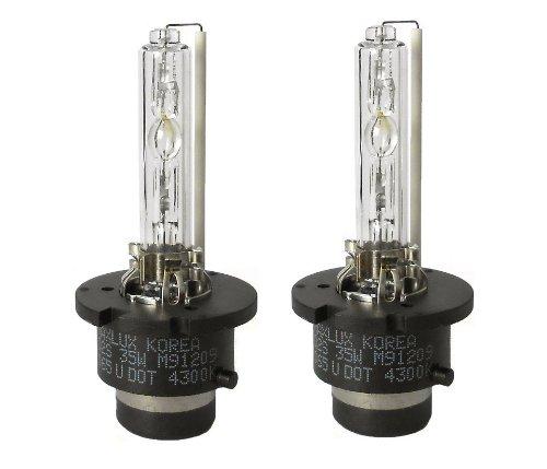 MAXLUX HID Xenon Bulbs D2S 4300K E-MARK DOT 1 Pair OEM White
