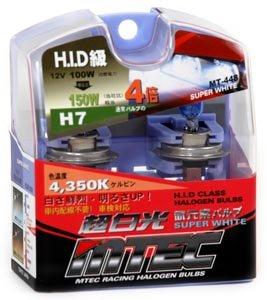 MTEC 4X Super White H7 Bulbs High Wattage