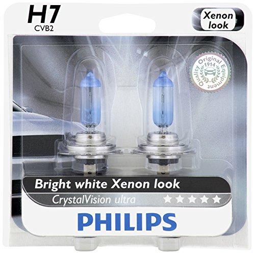 Philips H7 CrystalVision Ultra Upgrade Headlight Bulb 2 Pack