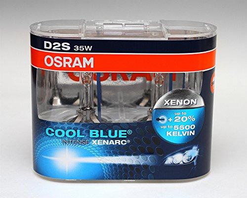 OSRAM D2S CBI Cool Blue Intense Xenon HID Headlight Bulbs 5000K Two Bulbs