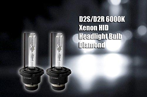 Zone Tech D2SD2R 6000K Xenon HID Headlight Bulb Diamond-White Pack of 2
