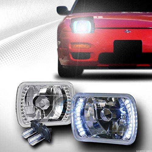 6000K HID XENON H4 BULBS7X6 CHROME DAYTIME WHITE LED HEAD LIGHTS LAMPS LR C1