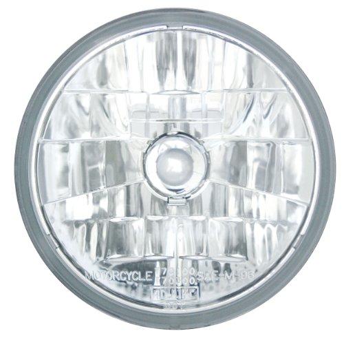 Adjure T70100 Clear Lens 7 Diamond Cut Ice Motorcycle Headlight with H4 Bulb