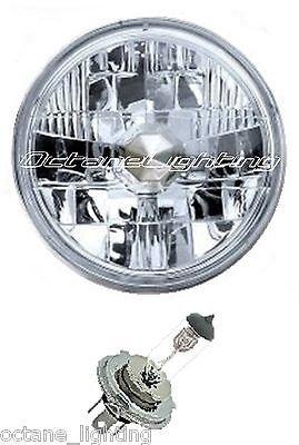 OCTANE LIGHTING 5-34 12V Motorcycle Halogen Headlight Headlamp Crystal Clear H4 Bulb 6055W