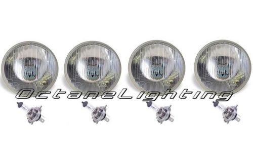 OCTANE LIGHTING 5-34 Halogen Semi Sealed Beam Headlight Conversion Headlamp 6055W H4 Bulbs
