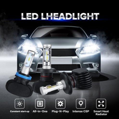 Auto LED Headlight Bulb 6500K Extremely Bright CSP Chips Conversion Headlamp Kit H7