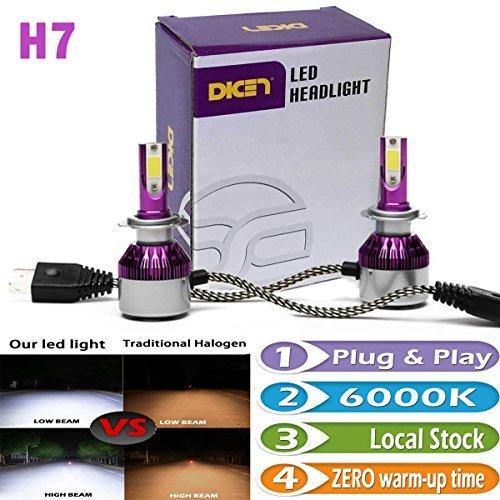 H7 LED Bulbs Headlight Fog Lights DRL HighLow Beam Replacement Kit 6000K White 7200 Lumens Bright Plug n Play Error Free Headlamp Bulb Pair
