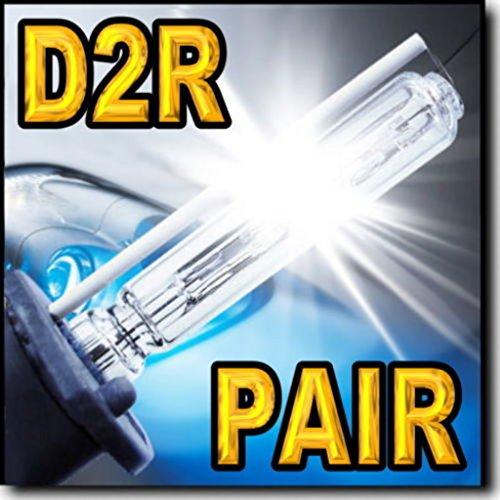 HighTechAutoAccessory - Pair D2R Xenon Stock HID Headlight Replacement Bulbs For 2000 Acura RL Low Beam 35W 8000K Diamond Blue
