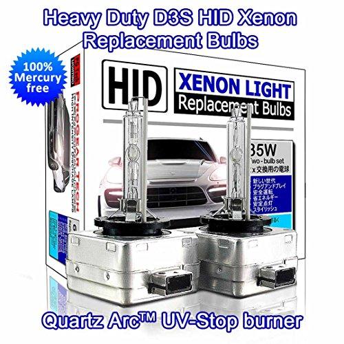 ProGear Tech D3S HID Xenon Headlight Replacement Bulbs 35W Non-Mercury High Low Beam Pack of 2 8000K Iceberg