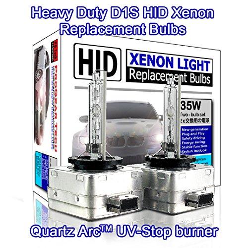 ProGear Tech Heavy Duty D1S D1R HID Xenon Headlight Replacement Bulbs 35W High Low Beam Pack of 2 6000K Daylight White