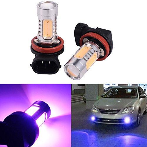 2 PCS Car H8 H11 33-SMD LED Xenon Head Light Headlight Bulbs Lamp or Daytime Running Lights Lighting DRL 12V 75W - Purple