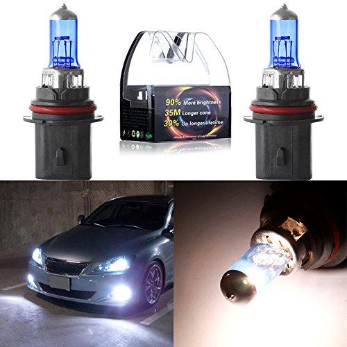 CCIYU 2cs New HB19004 12V 5900K High Performance Super White Halogen Xenon Headlight Bulb