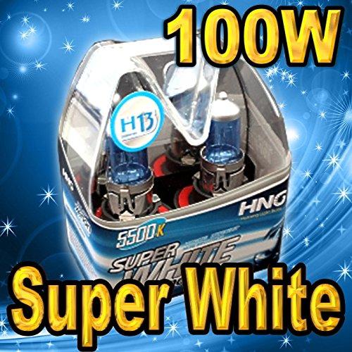 HighTechAutoAccessory - Pair H13 9008 Super White 5500K Xenon HEADLIGHT BULB FOR LOW HIGH BEAM 90W100W