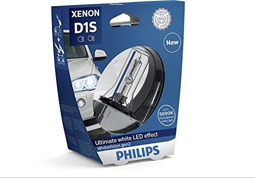 Philips 85415WHV2S1 WhiteVision gen2 Xenon headlight bulb D1S single blister