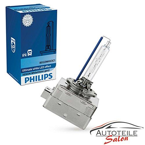 Philips WhiteVision Xenon Headlight Bulb D1S Gen2 Single Blister Pack 85415WHV2C1