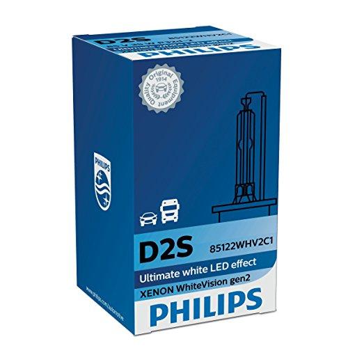 Philips WhiteVision Xenon Headlight Bulb D2S Gen2 Single Blister Pack 85122WHV2C1