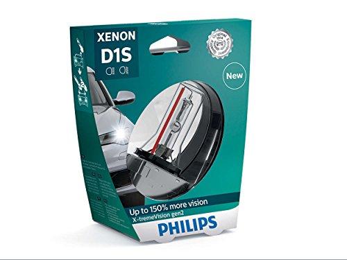 Philips X-tremeVision 150 Xenon Headlight Bulb D1S Gen2 85415XV2S1