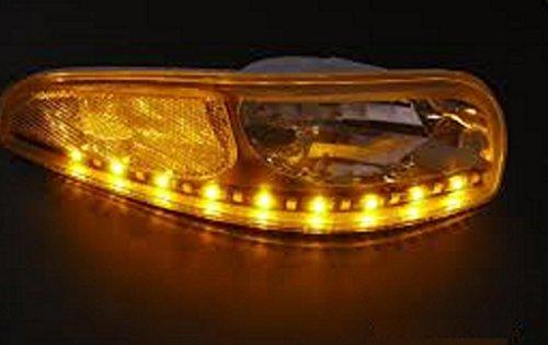 2 Car Truck Headlight LED Turn Signals 18 LED ~ Flexible Strip Flush Mount Blinkers