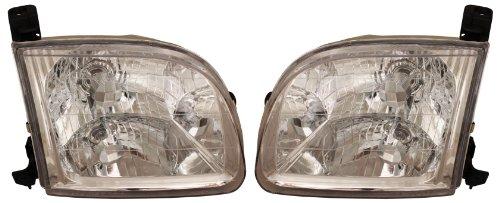 00-04 Toyota Tundra Pickup Truck Headlights Headlamps Head Lights Lamps Pair Set