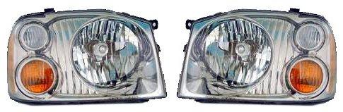 01-04 Nissan Frontier SE SC Pickup Truck Headlights Headlamps Pair Set