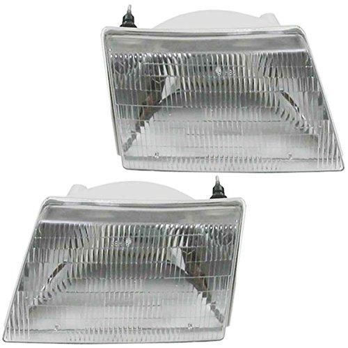 NEW 98 99 00 Mazda Pickup Truck Headlight Headlamp Pair