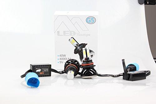 9007 LED Headlight Bulbs Conversion KitsAUTO DN HB5 6400lm 6000K Cool White LED Headlight DRL Kit