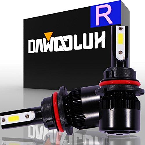 DawooLux 9007HB5 LED Headlight Kits Flip COB Chips 60W 6400LM 6500K Dual HiLo Beam Bulbs