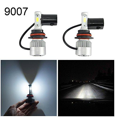 Vakabva 9007HB5 72W S2 Series LED Headlight Bulb Kit 2Pcs Waterproof 6000K Clean White Light Upgrade for Car Truck SUV RV HID Xenon Headlight 9007HB5