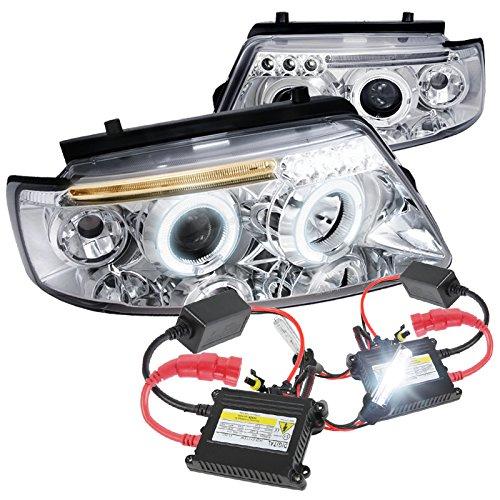 Passat LED Projector Headlights Chrome W H1 6000K HID Conversion Kit