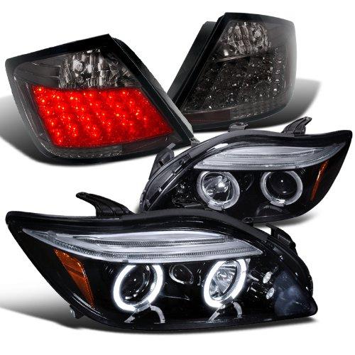 Scion Tc Glossy Black Halo Led Projector Headlights Smoked Led Tail Lamps
