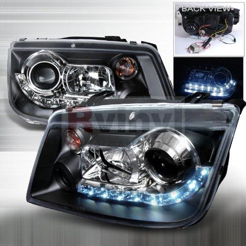 Spec-D Tuning 99-04 Volkswagen Jetta R8 Style LED Projector Headlights - Black